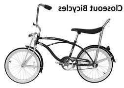 """20"""" Beach Cruiser Bicycle Bike LowRider MBI Hero Black pink"""