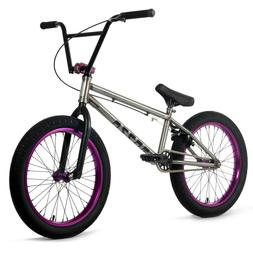 "Elite BMX 20"" Bike CMNDR Freestyle Raw NEW 2020 3-Piece Cr-M"