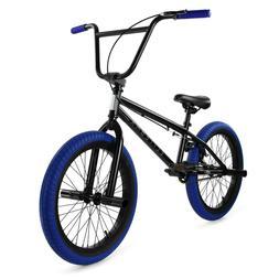 "Elite BMX 20"" Bike Stealth Freestyle Black Blue NEW 2019 1-P"