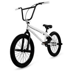 "Elite BMX 20"" Bike Stealth Freestyle White NEW 2021 1-Piece"