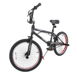 "20"" Boys Freestyle BMX Bike Bicycle Black & Red Antiskid Tir"
