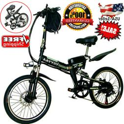 20'' Electric City Bike Mountain Cycling Folding Bicycle Mot