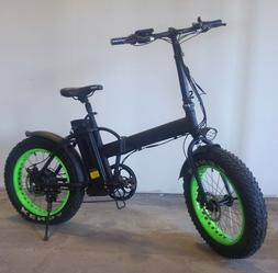 "20"" Electric Fat Tire Bike Snow Mountain Bicycle w Removable"