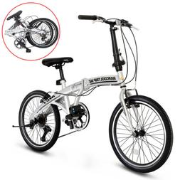 "20"" Folding Bike Boys Foldable Mountain Bike Shimano 6 Speed"