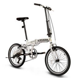 "20"" Folding Bike Foldable Mountain Bike Shimano 6 Speed Bicy"
