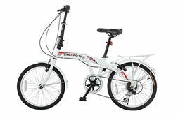 """Stowabike 20"""" Folding City V3 Compact Foldable Bike ? 6 Spee"""