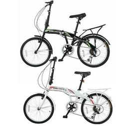 "Stowabike 20"" Folding City V3 Compact Foldable Bike - 6 Spee"