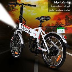 """20"""" Folding Electric Bicycle Mountain Bike City Cycling EBik"""