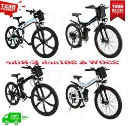 20' Folding Electric Mountain Bike Bicycle Fat Tire Ebike W/