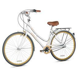 "Kent 20"" Frame Ladies 700C Wheel Retro Bike White Shimano 3"
