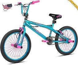 "20"" Kent Girls' Bike Aqua Pink 48 Spoke Rims Steel Frame Fro"