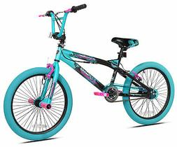 "Kent 20"" Girls Trouble Aqua/black Bicycle"