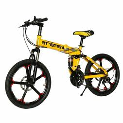 20-inch Folding Mountain Bike, 21 Speed, Two-Disc Brakes, Wh