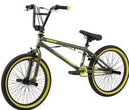 BMX 20 inch frame green black boys bike mongoose freestyle s