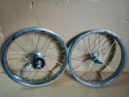 20 inch Front & Rear bicycle wheelset 14g stainless spoke Co