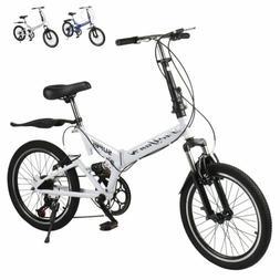 "20"" Inch Lightweight Aluminum Folding Bike Foldable Bicycle,"