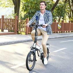 20 inch Wheel Electric Alloy Frame Folding Mountain Bike Cyc