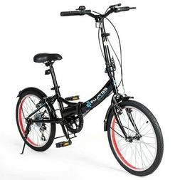 """20"""" Lightweight Adult Folding Bicycle Bike with 7-Speed Driv"""