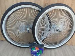 "LowRider Cruiser Bicycle 20/""x1.75 140 spokes Chrome wheels"