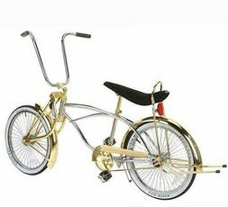 """20"""" Lowrider Bike Chrome-Gold with 72 spokes Bent Fork"""