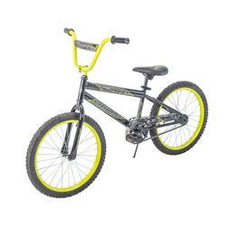 """Huffy 20"""" Rock It Boys' Bike, Metallic Black with Neon Yello"""