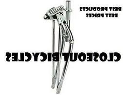 "12/"" CLASSIC 1/"" THREADED CHROME SPRINGER BIKE FORK LOWRIDER BIKE BICYCLE"