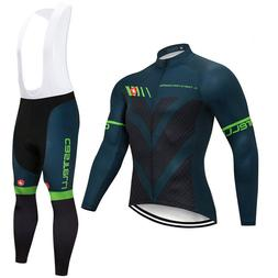 2018 Cycling Jersey Set Road Bike Clothes Long Sleeve Shirt