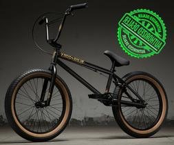 "2019 Kink Curb 20"" Complete BMX Bike 20""TT Matte Black Golds"
