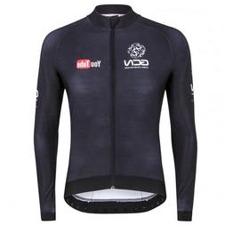 2019 Men Cycling Long Sleeve Jersey Bib Kit Bicycle Bike Rac