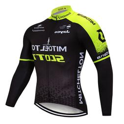 2019 Men Cycling Long Sleeve Jersey Bib Pant Kit Bicycle Bik