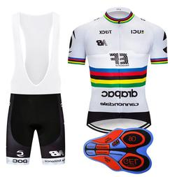 2019 New Men Racing Clothes Cycling Jersey Bib Shorts Set Ou