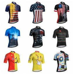 2019 Skull Cycling Jersey Men Shirt Short Sleeve Mountain Bi