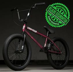 "2020 Kink Curb 20"" Complete BMX Bike 20""TT Gloss Smoked Red"