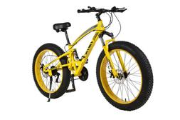 """21 Speed 26"""" Mountain Bicycle Dual Suspension Shock Fat Tire"""