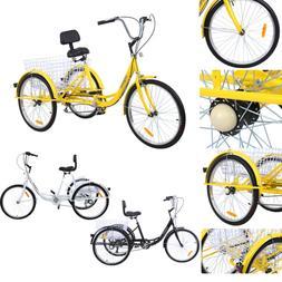 """24"""" Adult Tricycle 3-Wheel Shimano 7 Speed Bicycle Trike Bik"""