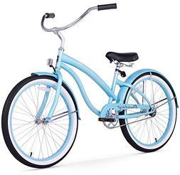 Girl's 24 Bella Classic Beach Cruiser Bike, Baby Blue