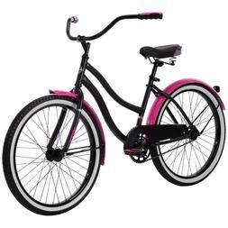 Huffy 24 inch Cranbrook Girls Cruiser Bike For Women- Black