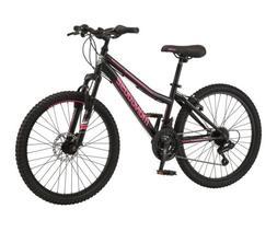 Mongoose 24 inch Excursion Mountain Bike 21 Speeds- Black/Ho