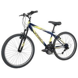Huffy Mountain Bikes for Boys 24 inch 18 Speed Blue, Incline