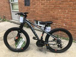 24 Inch Scout Boys Hardtail 21-Speed Mountain Bike Disc Brak