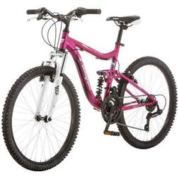 "24"" Mongoose Ledge 2.1 Girls Womens Mountain Bike Pink 21 Sp"