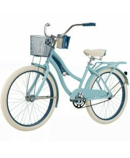 """Huffy 24"""" Nel Lusso Girls' Cruiser Bike - Blue - FREE SHIPPI"""