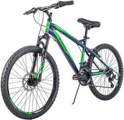 "Huffy 24"" Nighthawk Boys' Mountain Bike Blue and Green 24 in"