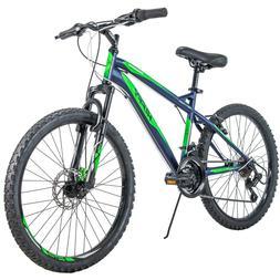 "Huffy 24"" Nighthawk Boys/men's Mountain Bike, Blue/Green,"