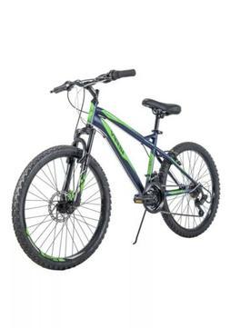 "Huffy 24"" Nighthawk Boys' Mountain Bike, Blue/Green *IN HAND"