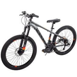 "Huffy 24"" Scout Boys Hardtail 21-Speed Mountain Bike Disc Br"