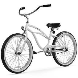 Girl's 24 Urban Lady Beach Cruiser Bike, White