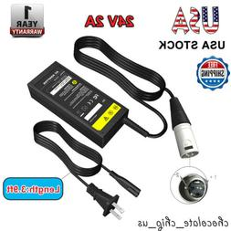 24V 2A XLR Plug Adapter For Electronic Scooter Bicycle Bike