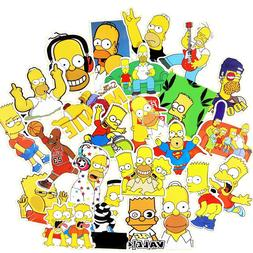 25 Pcs Simpson Cartoon Waterproof <font><b>Stickers</b></fon