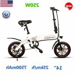 250W Folding Electric Bikes Bicycles Ebike 2-Speed 36V/7.5Ah
